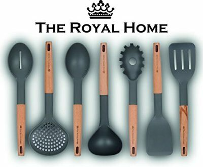 Kitchen Utensil Set | 7 Piece Wooden Handle Cooking Utensils | Nonstick Kitchen