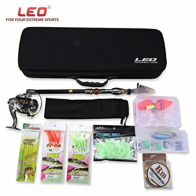 LEO Outdoor Fishing Spinning Rod Reel Tackle Tool Kit 2.1m - 3.6m