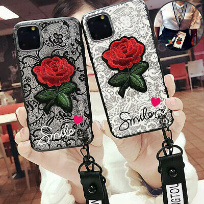 For Iphone 8 Plus 7 Plus XS MAX XR X Shockproof Rose Cute Girls Phone Cover Case