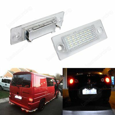 2 Canbus LED License Number Plate Light VW Transporter T5 Caddy Touran Passat
