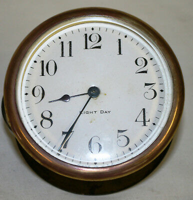 Working Complete Antique 8 Day Clock Movement With Glass and Back