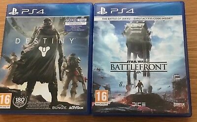 2x PS4 GAMES STAR WARS BATTLEFRONT & DESTINY - very quick dispatch