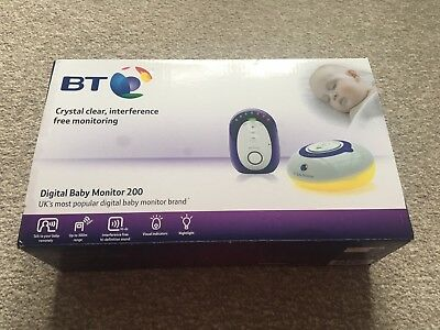Bt 200 Digital Baby Monitor + Rechargeable Batteries & Charger