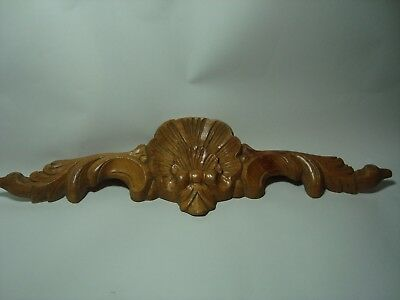 An Antique Or Vintage Carved Wood Panel, 'scallops'.