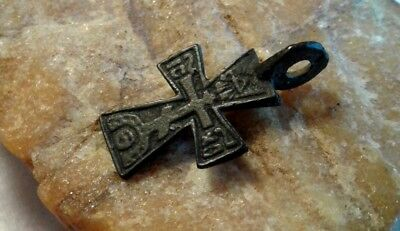 "RARE 17-18th CENTURY ORTHODOX or CATHOLIC ""IRON"" CROSS ALL-SEEING EYE and SKULL"