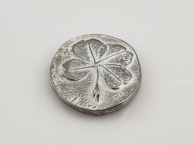 Patrick/'s Day St 100 Four-Leaf Lucky Clover Lead-Free Pewter Pocket Token