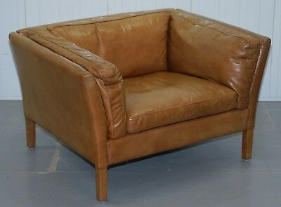 Lovely Rrp £1049 Halo Groucho Leather Armchair Love Seat Matching Sofa Available