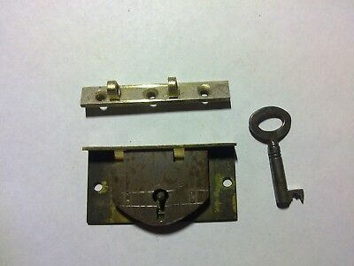 box lock, keep and key,50 mm, antique (GR1)