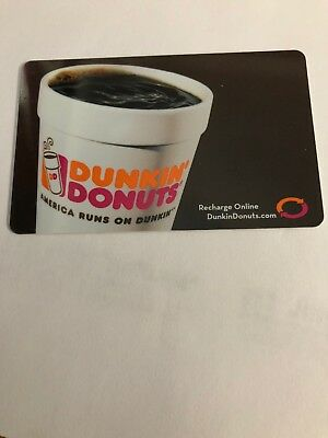 Dunkin Donuts Gift Card  ( Coffee )  No $ Value