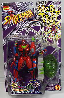 MARVEL FUTURE SPIDER-MAN aus WEB TRAP von 1997 von TOY BIZ. Originalverpackt.