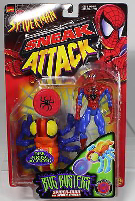 MARVEL SNEAK ATTACK SPIDER-MAN von 1998 von TOY BIZ. Originalverpackt.
