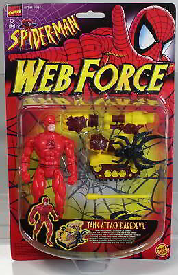 MARVEL TANK ATTACK DAREDEVIL aus SPIDER-MAN WEB FORCE von 1997 von TOY BIZ. Orig
