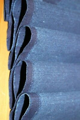 Vintage Japanese Solid Indigo Cotton Boro Shaded Fabric for Patchwork Quilt