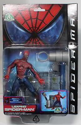 MARVEL LEAPING SPIDER-MAN von 2002 von TOY BIZ. Originalverpackt.