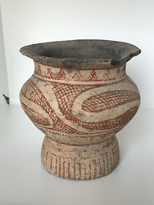 Ban Chiang 500 BC Ancient Thailand Large Bichrome Terracotta Pottery