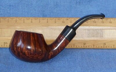 S. Bang Copenhagen Denmark  Pfeife bent pipe straight grain