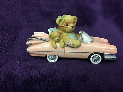 "Cherished Teddies ""Evelyn"" Pink Cadillac A Girl With Style!"
