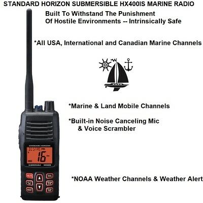 Standard Horizon Submersible Hx400Is Vhf With All International Marine Channels