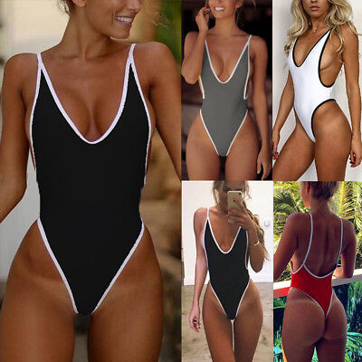 Sexy HOT Women One Piece Monokini Bikini Backless Push Up Set Swimsuit Swimwear