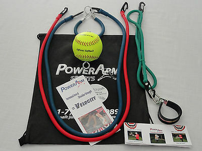 "11"" Softball Total Trainer Set Hitting, Pitching & Throwing, PowerArm all Ages"
