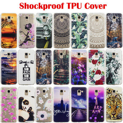 For Samsung A6 A8 J6 Note 9 Shockproof Slim Soft Silicone Painted TPU Case Cover