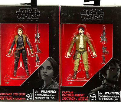 "Jyn Erso & Cassian Andor Rogue One (3,75"") Star Wars The Black Series Von Hasbro"