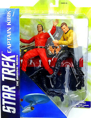 "STAR TREK DIAMOND SELECT TOYS CAPTAIN KIRK & KHAN ACTIONFIGURE  6"" INCH / 18 cm"