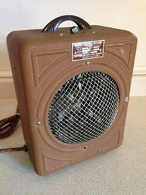 Antique 1930's Art Deco Markel Electric Heetaire Space Heater With Dome Front
