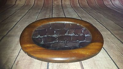 Antique Victorian Edwardian Wooden Oval Mirror Hand Made MakeUp Dresser Bathroom