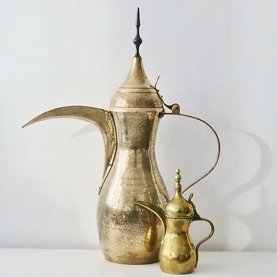 "31"" Copper Antique Dallah Arabian Oman Middle East Kettle Bedouin Islamic Saudi"