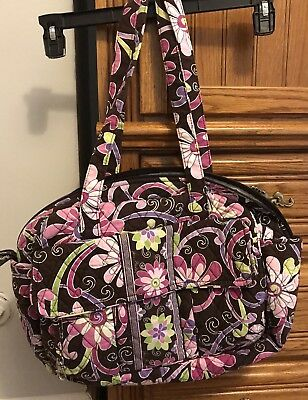 8f9799d80e Vera Bradley Diaper Baby Bag Purple Punch W  Changing Pad