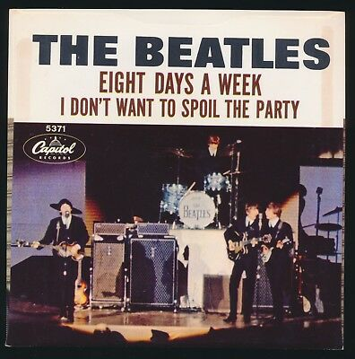 Beatles 1965 U.S. ' EIGHT DAYS A WEEK ' WEST COAST PICTURE SLEEVE NM! NOS!