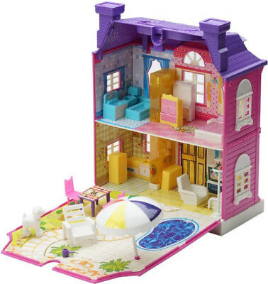Doll House With Furniture Miniature House Assembling Toys For Kids XMAS gift