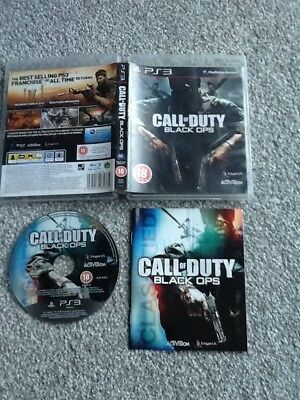 Playstation 3 Game_Call Of Duty : Black Ops + Manual