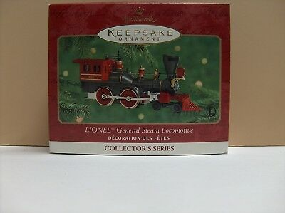 Hallmark 2000 Lionel General Steam Locomotive  & Tinder Holiday Ornament