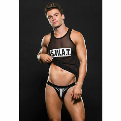 D-208469 Envy Ec03 M S.w.a.t Jockstrap And Tank Set M/l