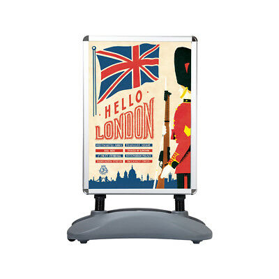 A1 Waterbase Pavement Sign A-Board Poster Holder Snap Frame Shop Display Stand