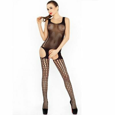 D-216393 Passion Woman Bs029 Bodystocking Black One Size
