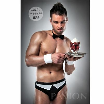 D-203440 Waiter Outfit S Black / White  By Passion Men Lingerie S/m