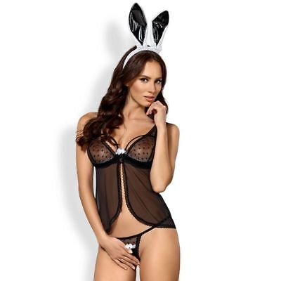 D-213846 Obsessive Sexy Bunny Costume 815-Cst-1 Size S/m