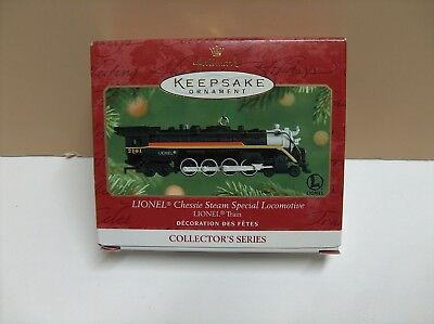 2001 Hallmark  Ornament Lionel Chessie Steam Special Locomotive & Tender Nib