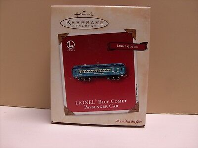 MIB 2002 Hallmark Ornament Lionel Blue Comet Passenger Car New in box