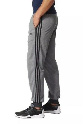 NWT Men's adidas Essential Tricot Tapered Pants - Gray/Black Large