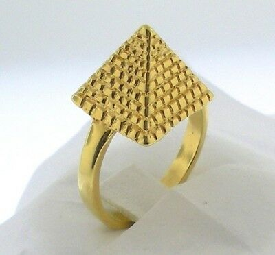 Ancient Egyptian Pyramid Ring -    Gold Tone  Sizes 6.5-9.5