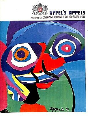 (COBRA)  EO  - catalogue   -  KAREL APPEL.  - APPEL'S  APPELS - 1972  MONTREAL