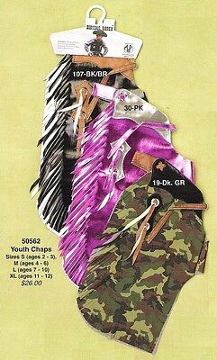 Kid's ~ RODEO CHAPS ~ Mutton Bustin/Buster - CAMO or PINK Vinyl
