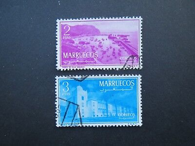 2 MOROCCO STAMPS 1956 Northern zone issues