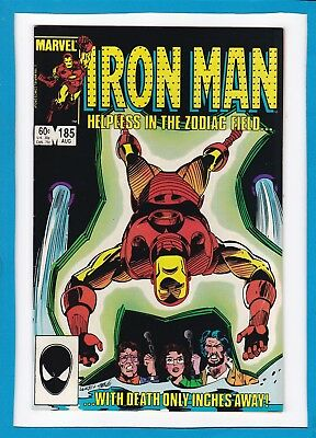 """Invincible Iron Man #185_August 1984_Vf/nm_""""helpless In The Zodiac Field""""!"""