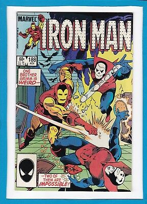 """Invincible Iron Man #188_Nov 1984_Very Fine+_""""to Battle The Brothers Grimm""""!"""