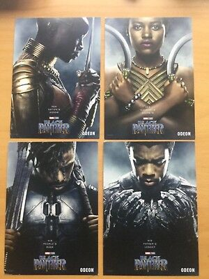 Black Panther Promo Cards Odeon Cinema x4 Marvel.Avengers OFFICIAL postcard size